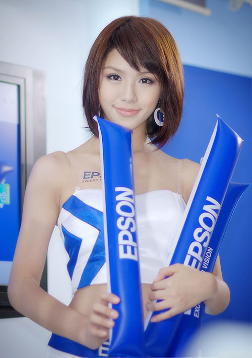 Taiwan booth babe for Epson