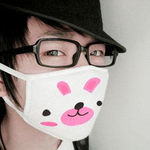 Fun H1N1 swine flu face mask