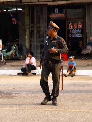 Thai police uniform