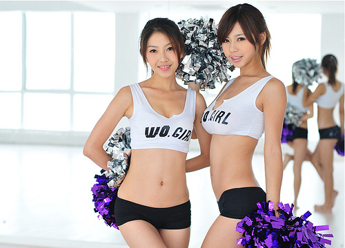 Asian cheerleaders so cute