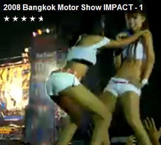 Coyote dancers Bangkok motor show