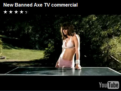 Banned Axe commerical video clip