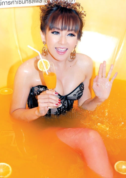 Panward in a lingerie bathtub show