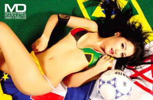 Thai hottie in body paint for World Cup