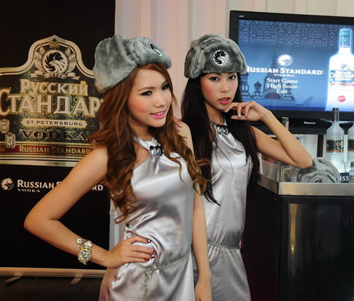 Thai Russian vodka girls at Shock 39