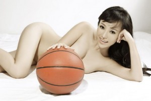 Nude Chinese basketball player