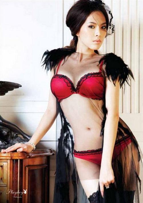 Thai model Playboy lingerie