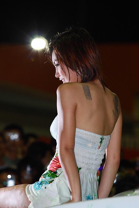 Pimai Sumonrat at Laem Thong motor show